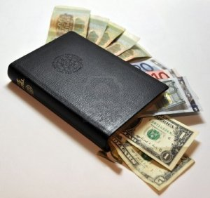 Money in a Bible