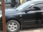 thief inside the car